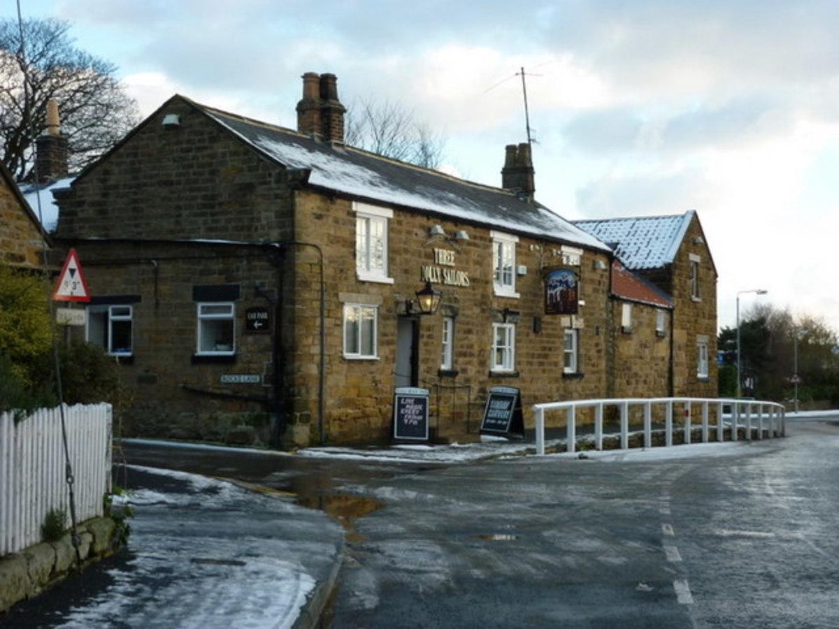 Three Jolly Sailors Inn at Burniston Village on the way to Scarborough
