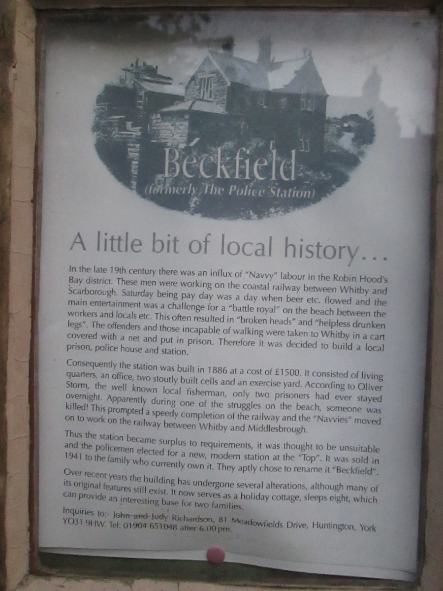 'Beckfield' - read the story of how the police station came about after navvies building the railway to Scarborough took on the local lads in seafront brawls
