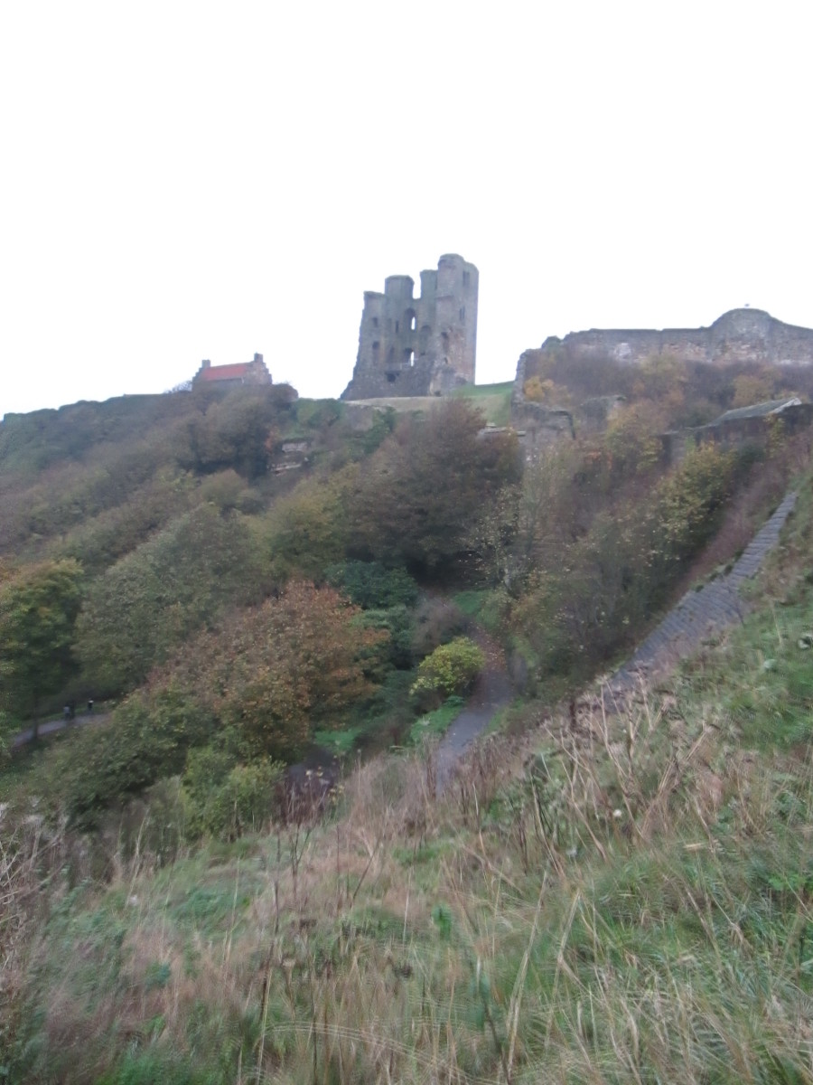 The castle seen from the walkway that links the South and North Bays