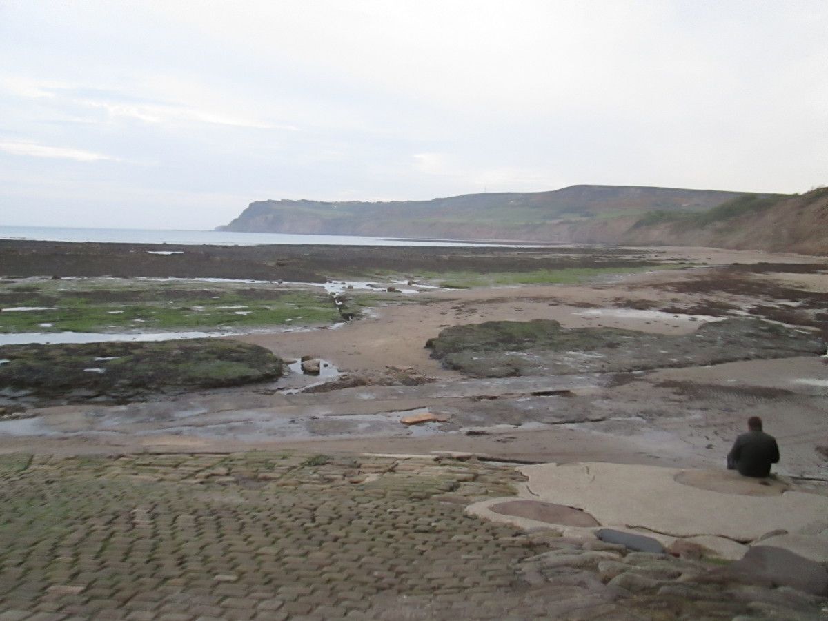 The view along the coast past Fylingthorpe to Ravenscar ('Peak') where the Lyke Wake Walk ends (see Hub-page 'Walk On The Wild Side')