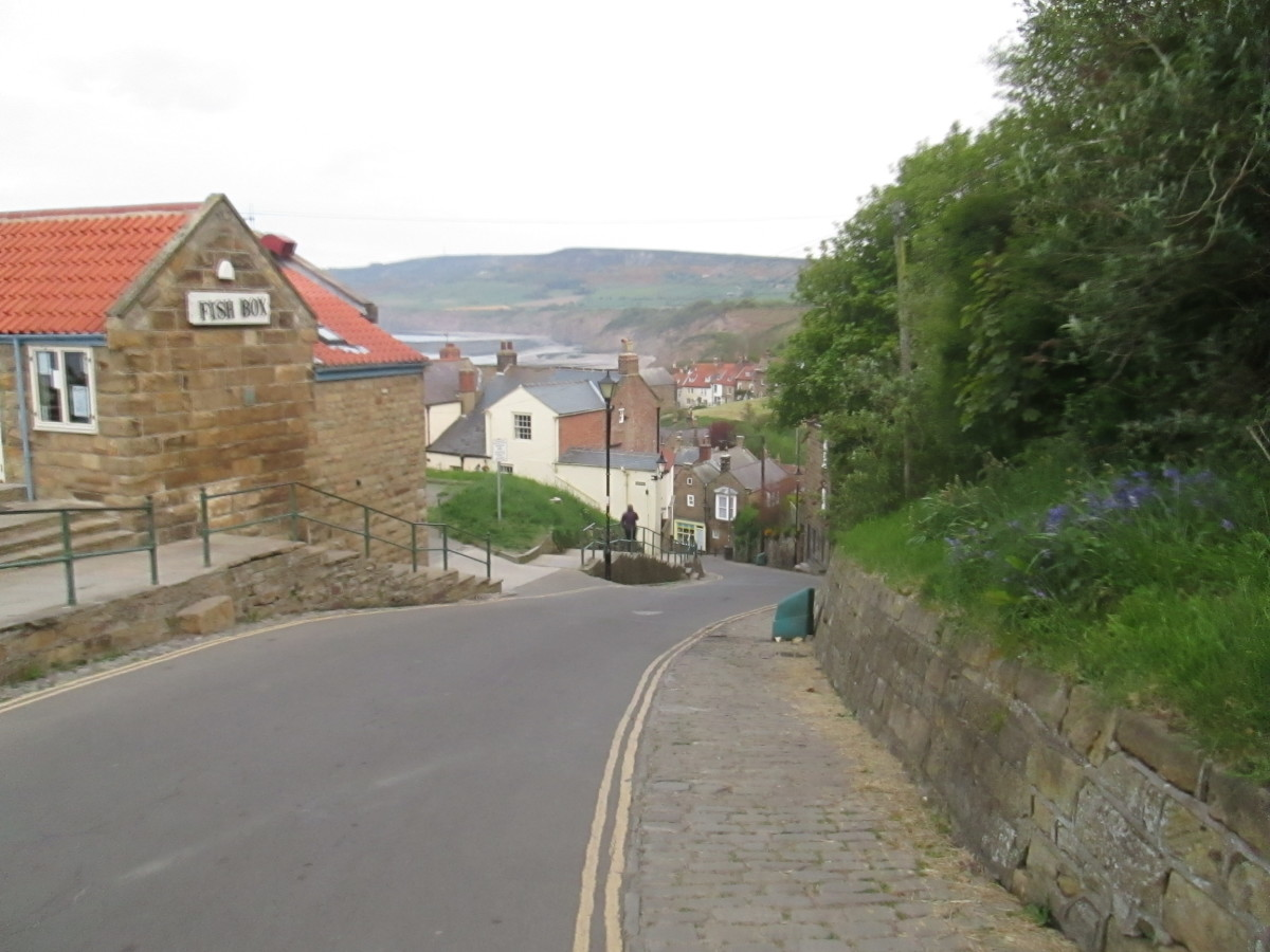 Looking downhill into Bay Town, Robin Hood's Bay ('Bramblewick')