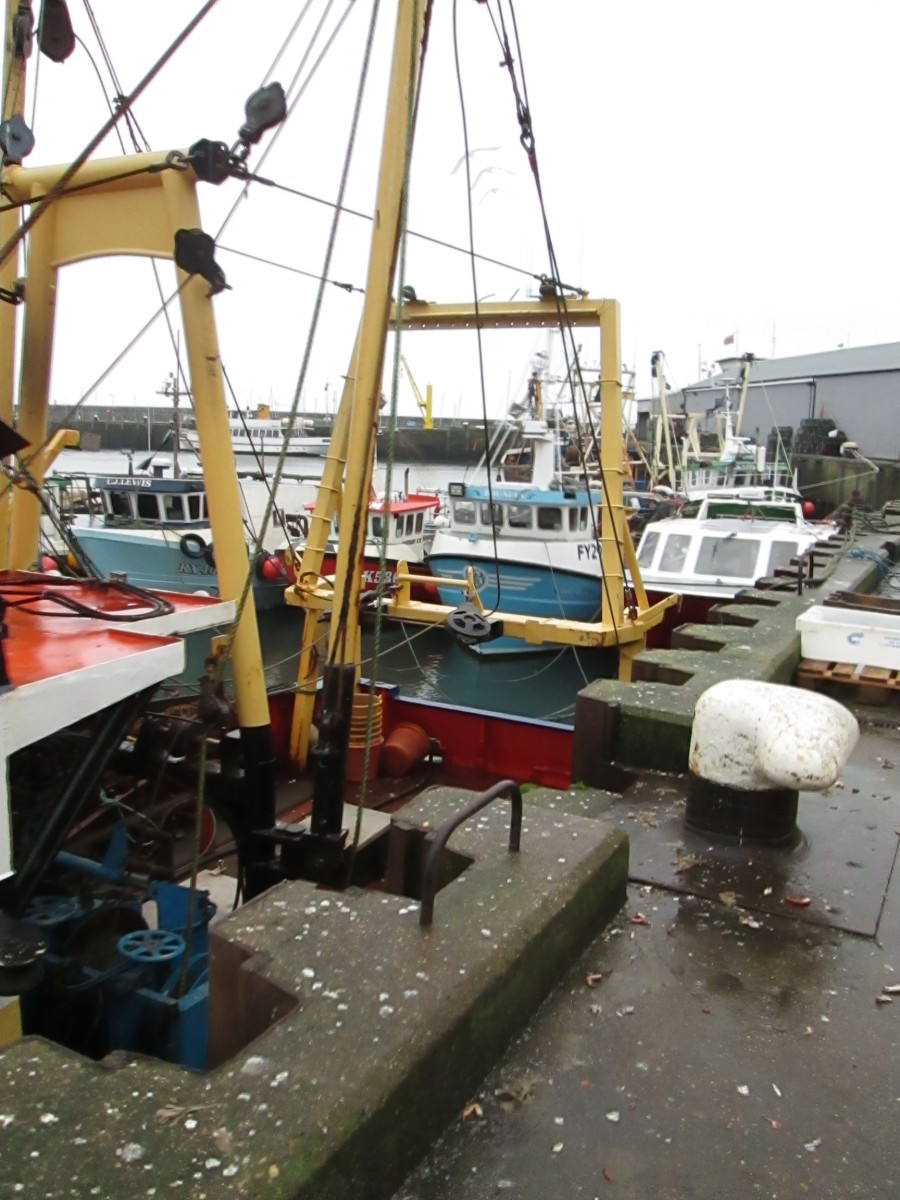 Down on the Fish Quay, trawlers are tied up ready for the next trip