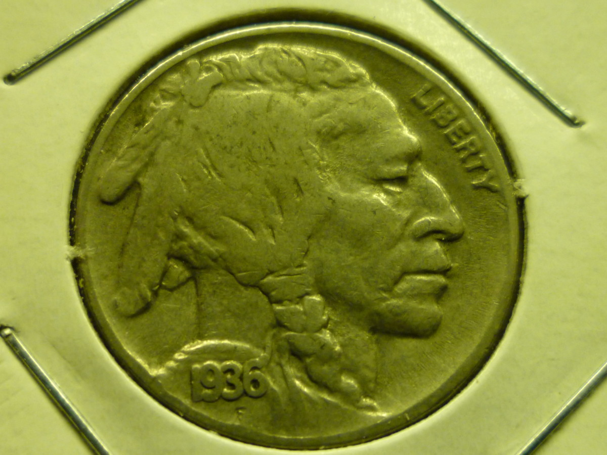 Value of Buffalo Nickels. 1936D Buffalo Nickel Shown Above.
