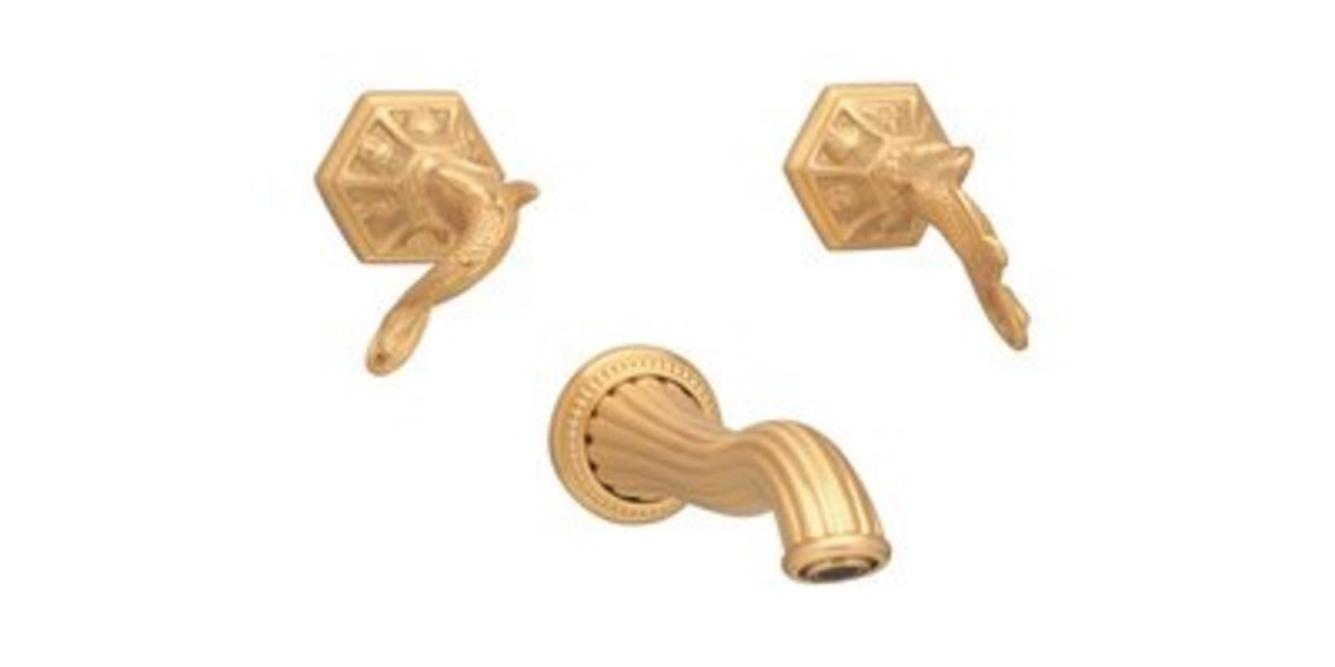 gold bathroom fixtures