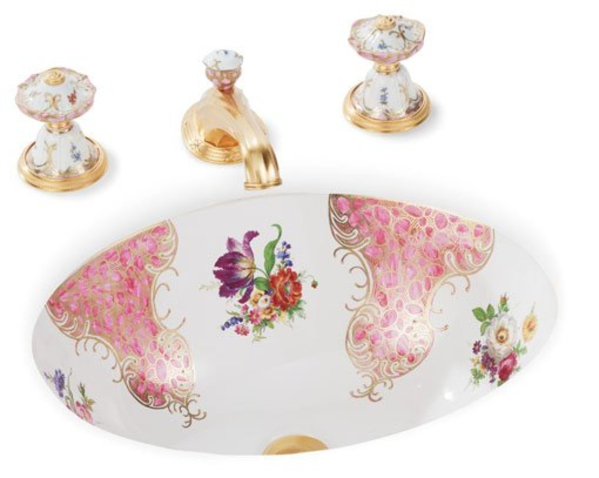 Pink Floral Chinoiserie