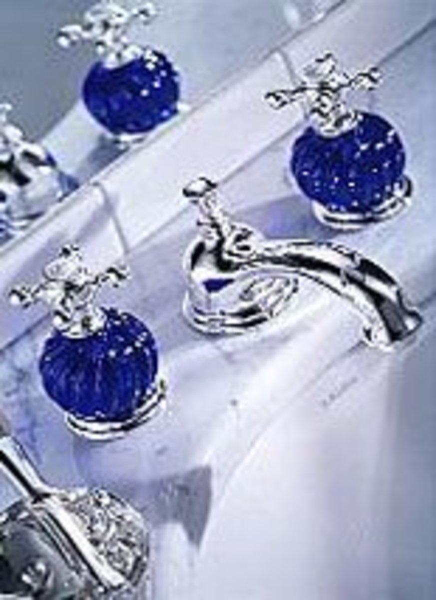 Bathroom jewelry luxury hardware and bathroom accessories - Cobalt blue bathroom accessories ...