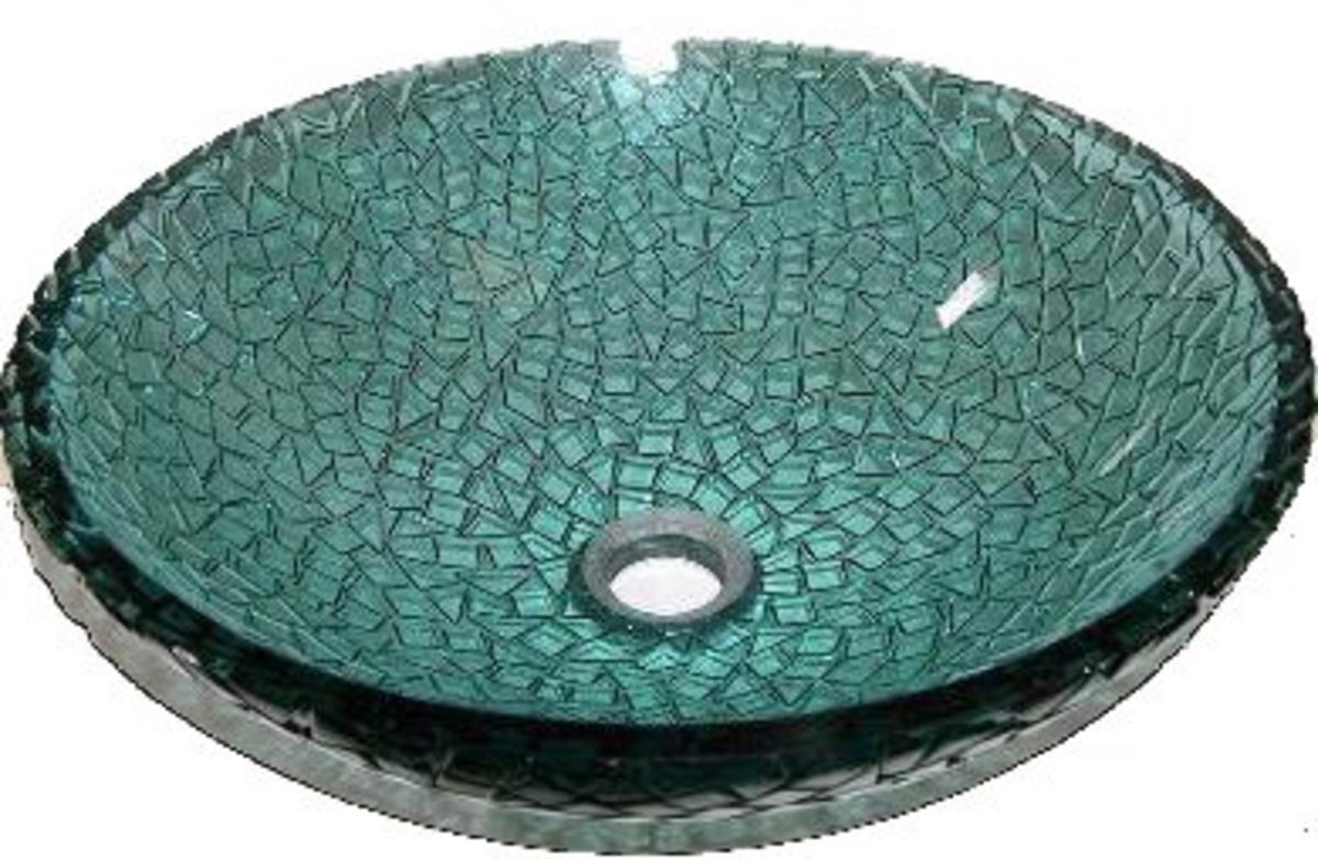 beautiful teal vessel sink - jewelry for your bathroom