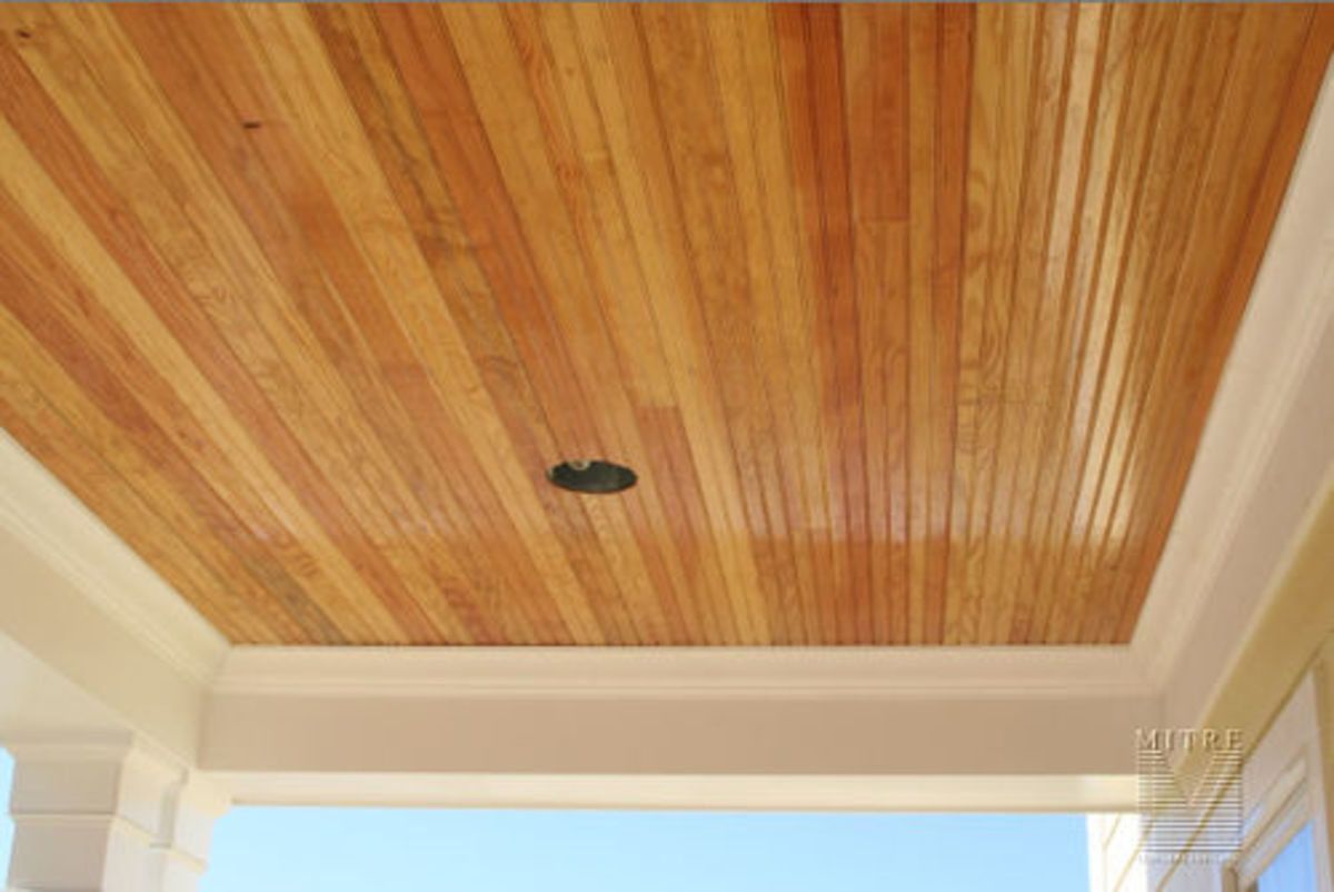 Pine Beadboard Ceiling
