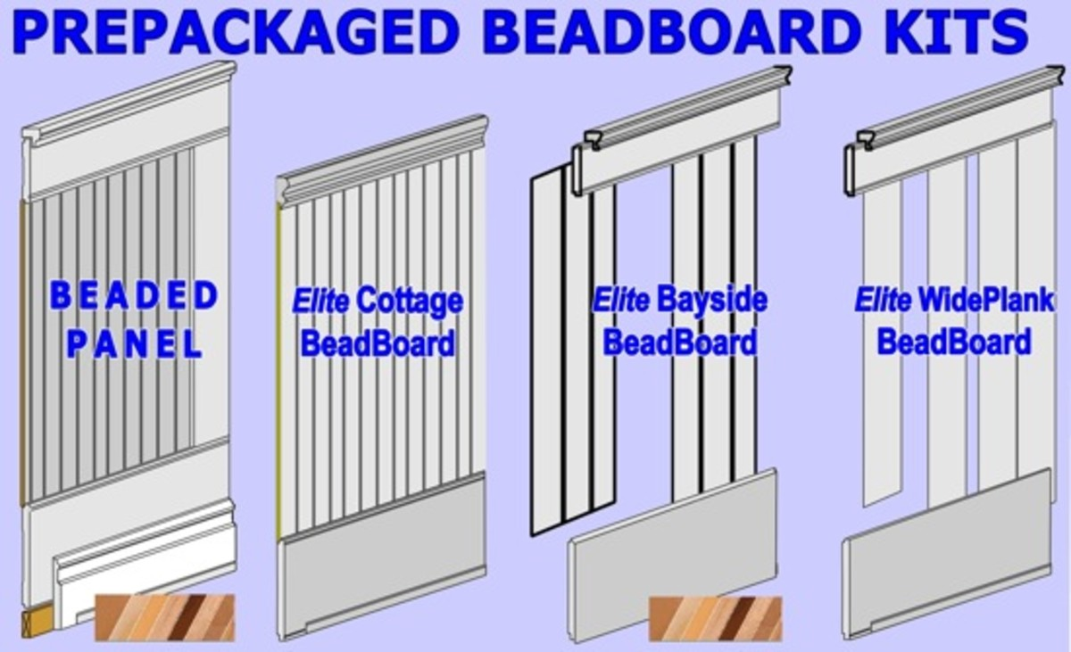 Types of beadboard illustrated