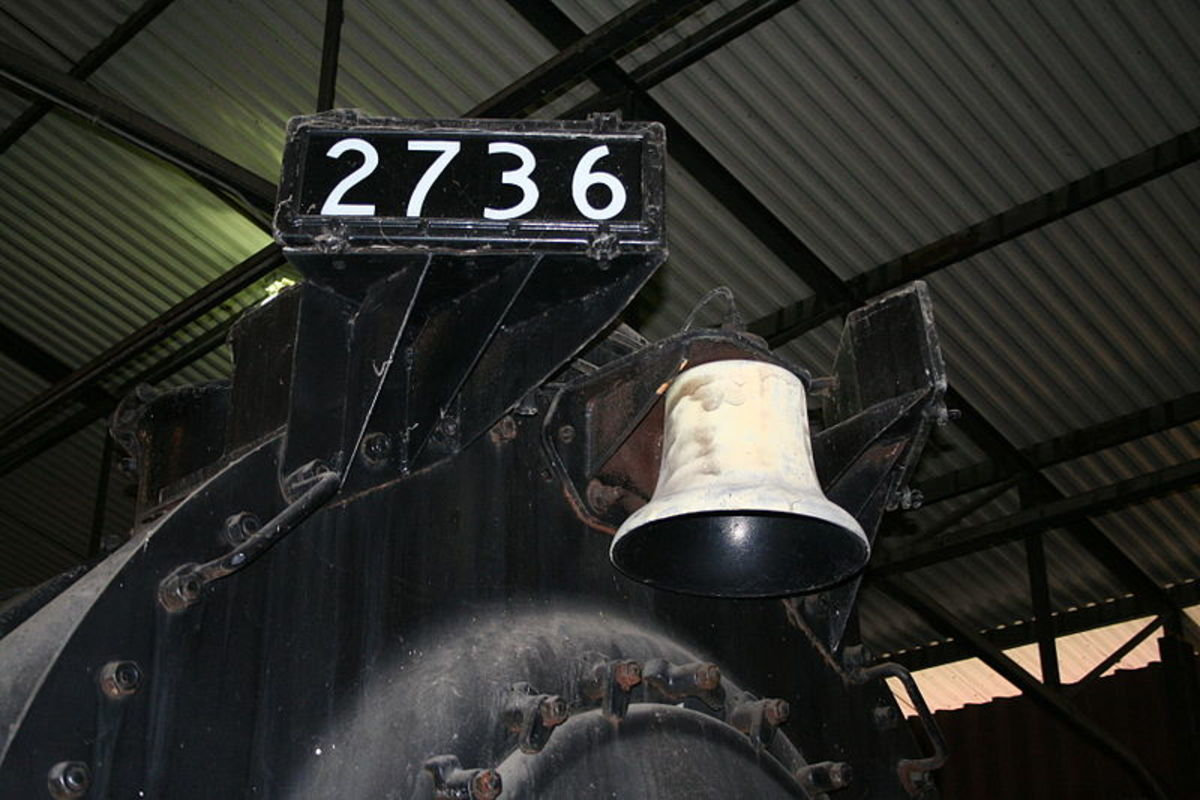 Engine Number and bell from the Chesapeake and Ohio Railway.