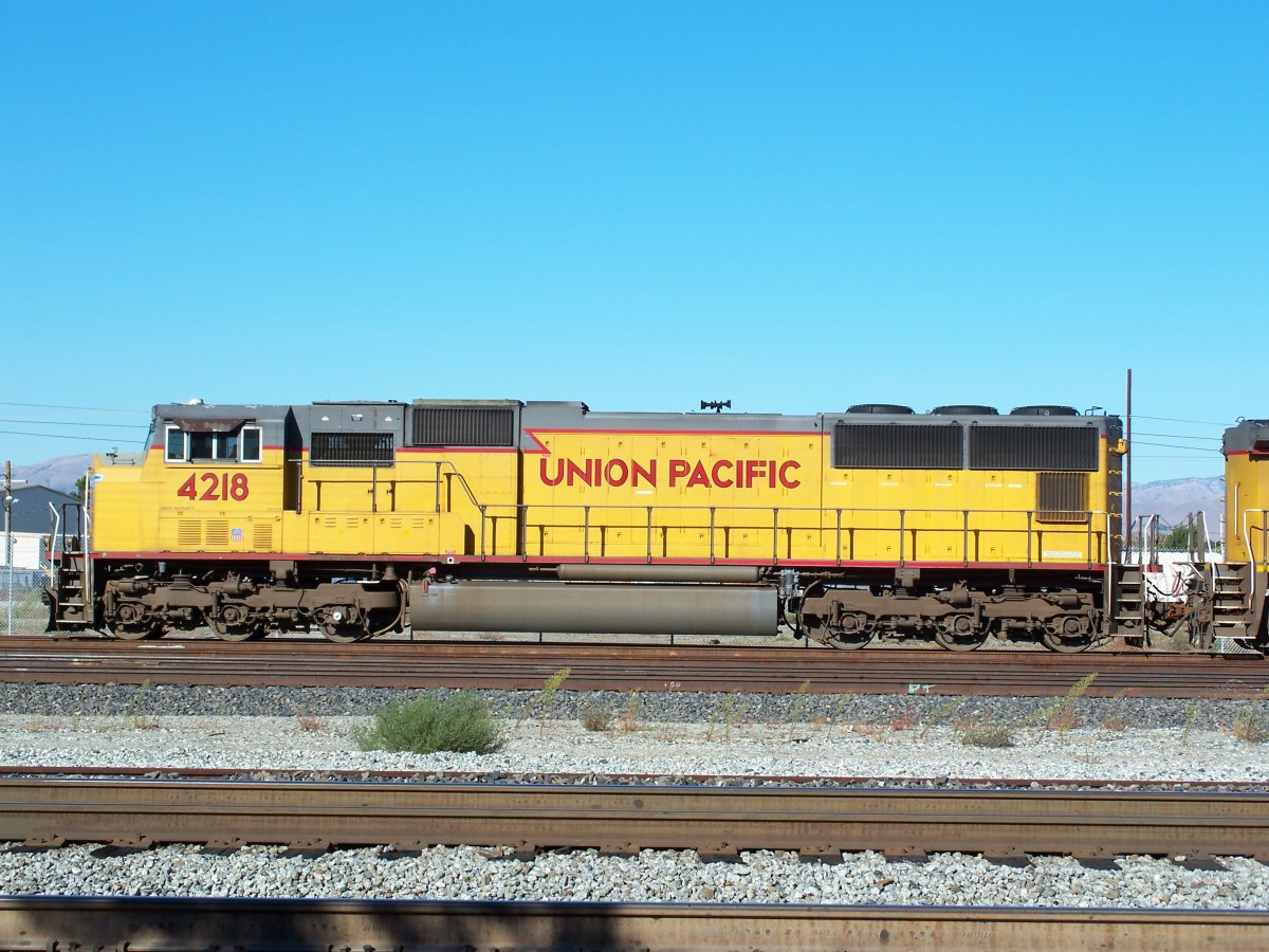 Union Pacific diesel engine at Santa Clara, California.