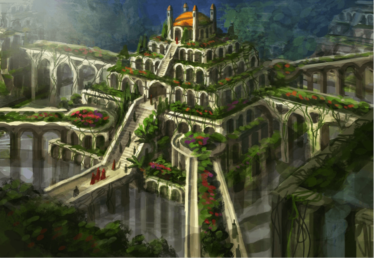 The Hanging Gardens Of Babylon Seven Ancient Wonders