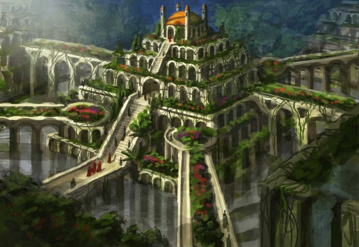 The Hanging Gardens Of Babylon Seven Ancient Wonders