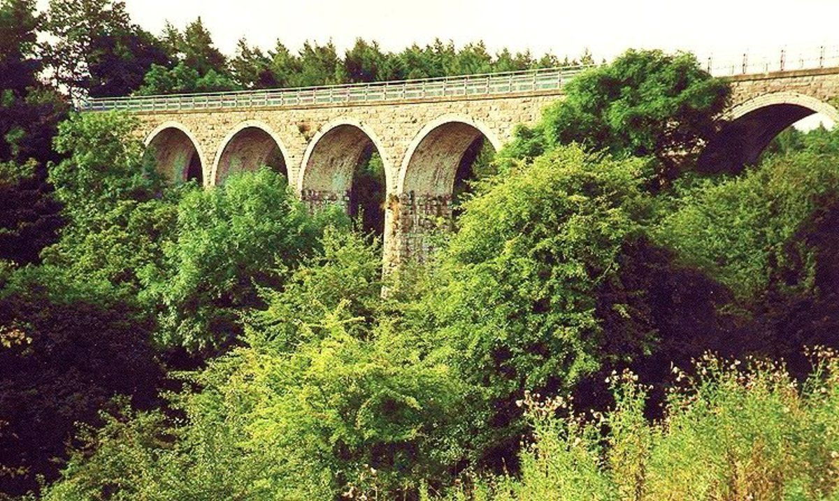 Romaldkirk viaduct on the Barnard Castle-Middleton branch line, closed in the mid-60's as a result of Dr Beeching's report on unprofitable lines