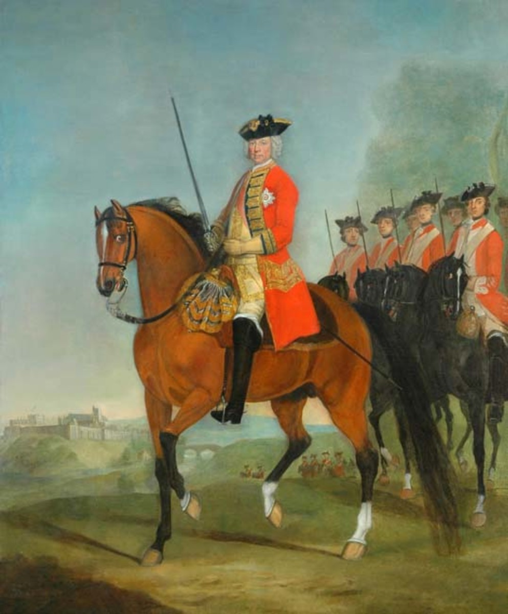 Colonel Charles Howard, after whom the regiment was named - cuffs and collars were green, hence the name 'Green Howards'.