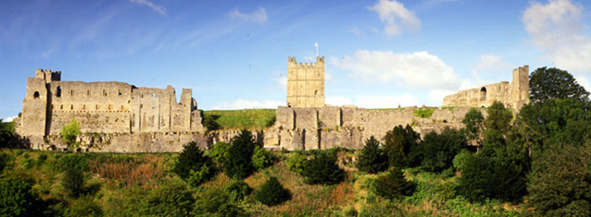 Richmond Castle - landmark keep built for Alan 'Rufus'' (the Red), Earl of Richmond under William I