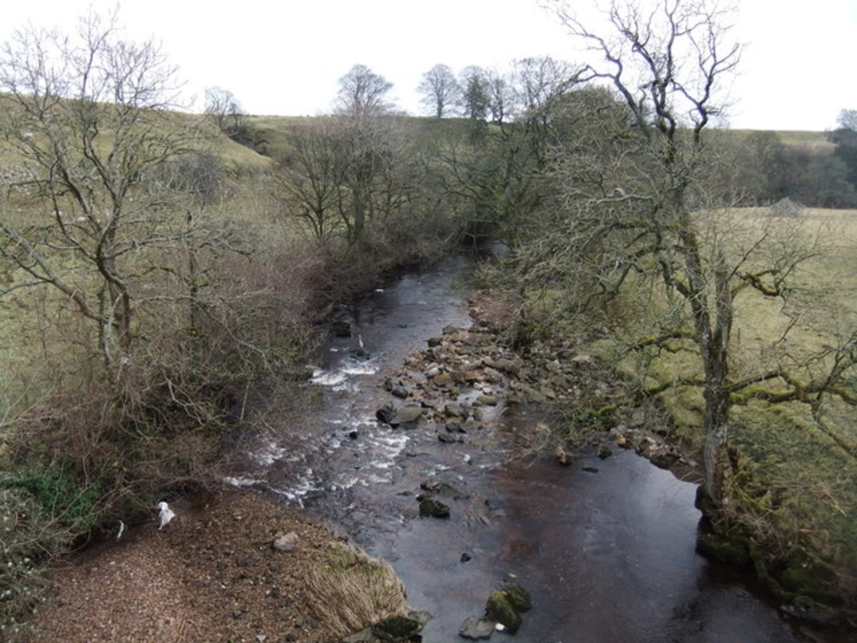 The River Greta is one of the Tees tributaries, this is the Greta from Rutherford Bridge