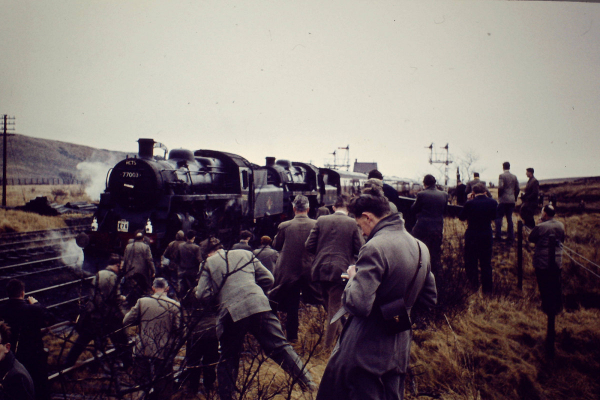 The last day of passenger services on the Stainmore line, 20th January, 1962. The train was a special charter called 'The Stainmore Limited'