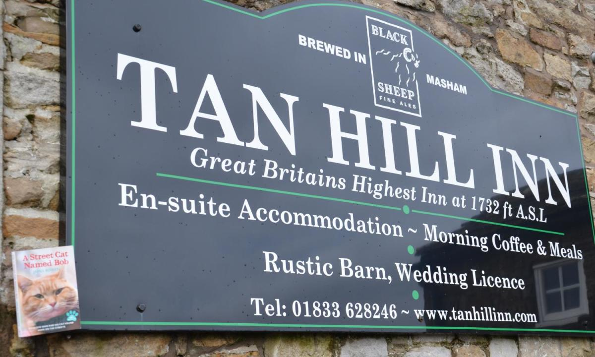 Tan Hill Inn's bill of fare, parties welcome! (spot 'Street Cat Bob'?)