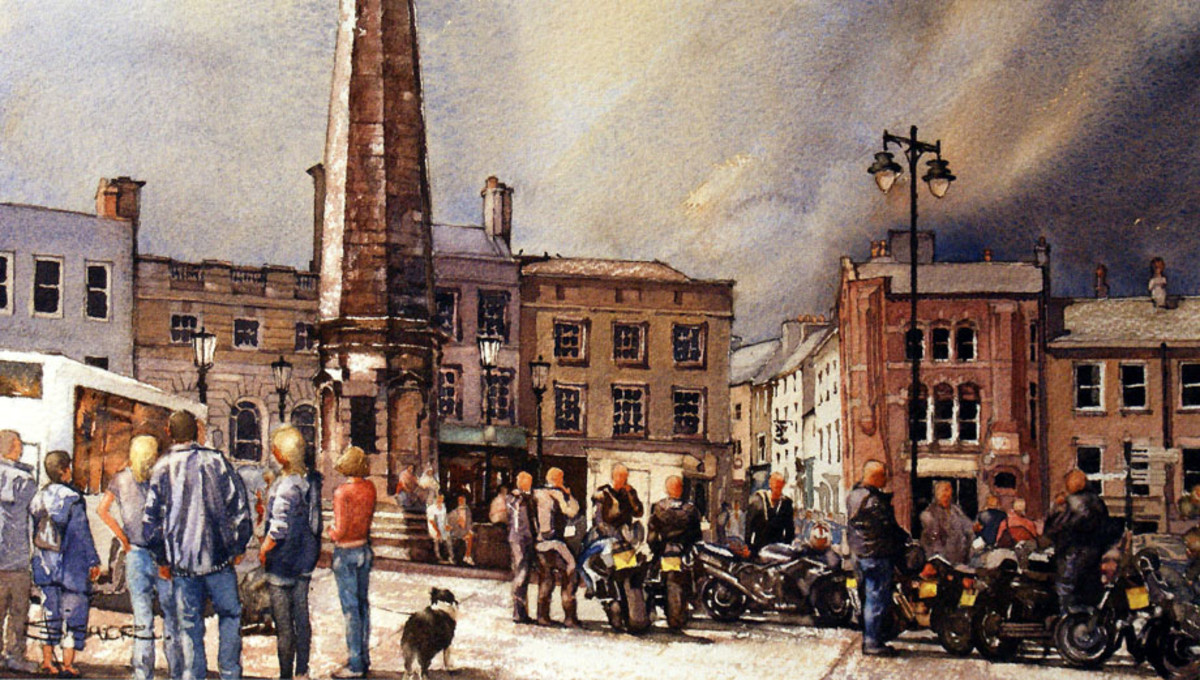 Richmond Market - watercolour by Stuart Fisher