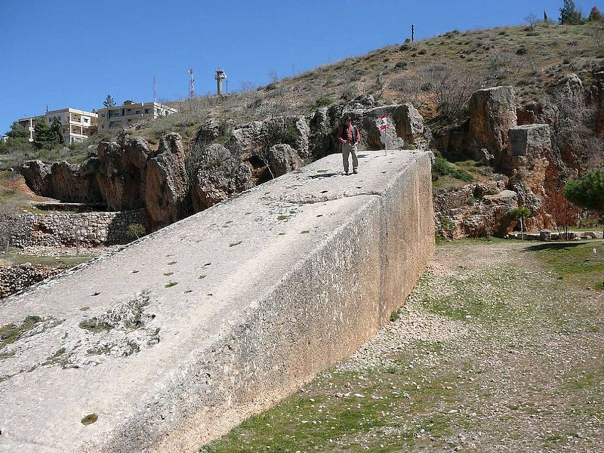 Stone of the Pregnant Woman at Baalbek