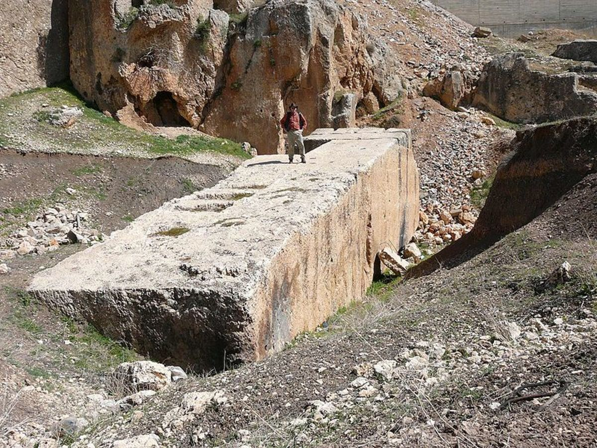 Largest megalith at Baalbek