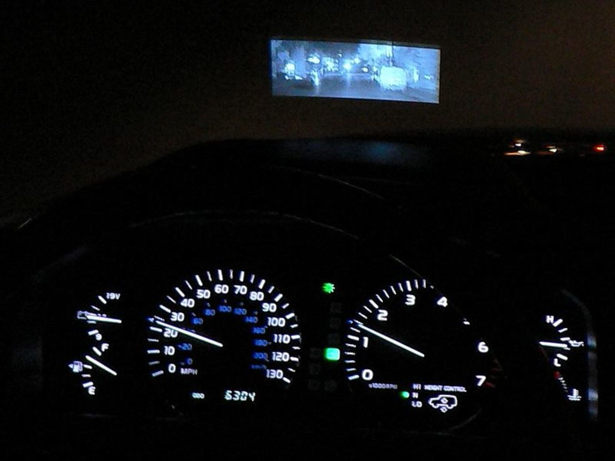 Lexus night-vision system in action