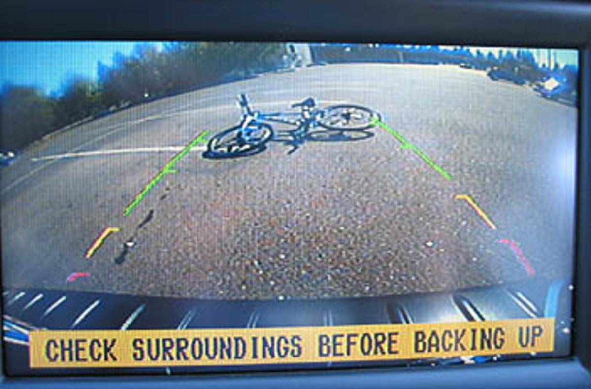 Subaru Tribeca's backup camera view