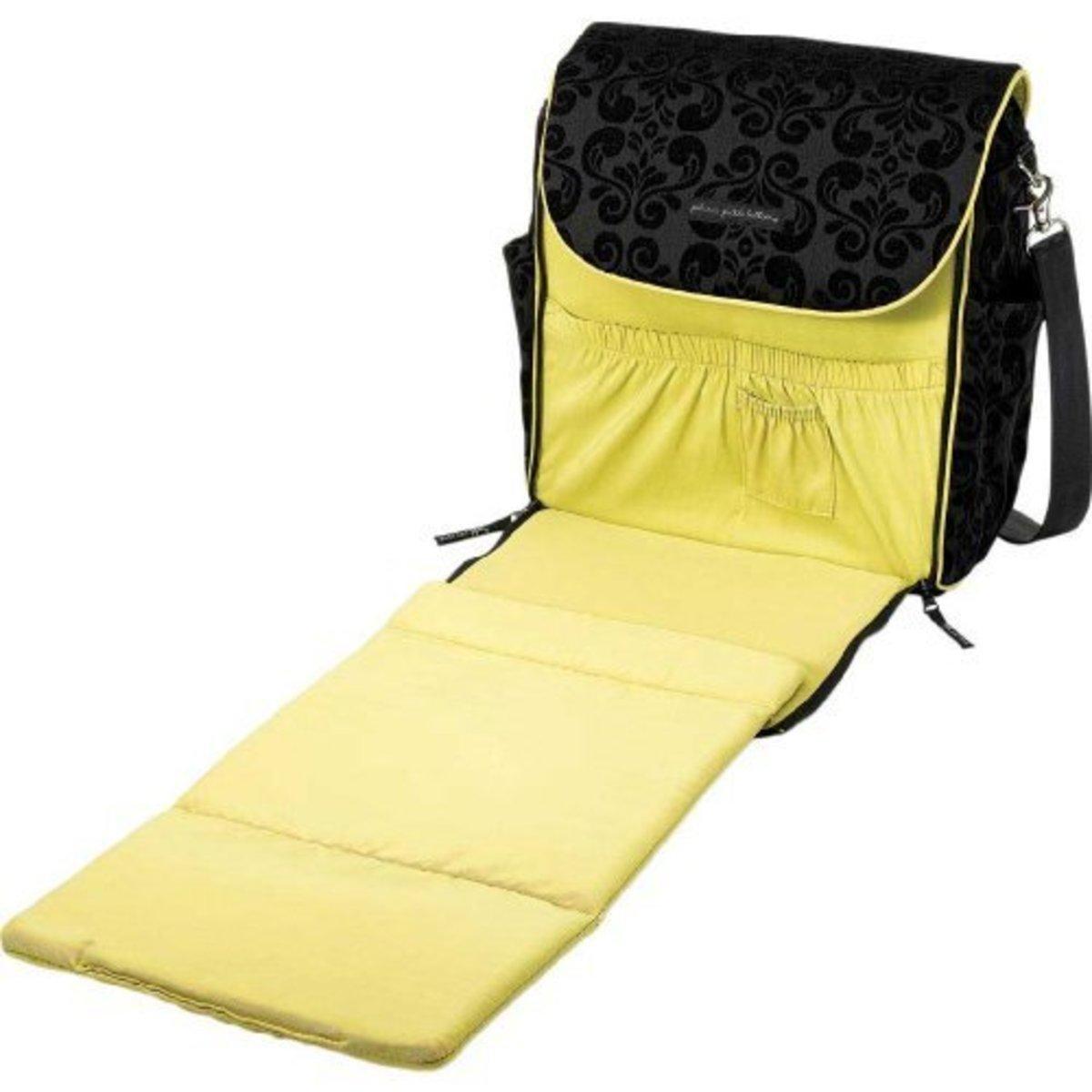 Petunia Pickle designer diaper backpack changing mat.