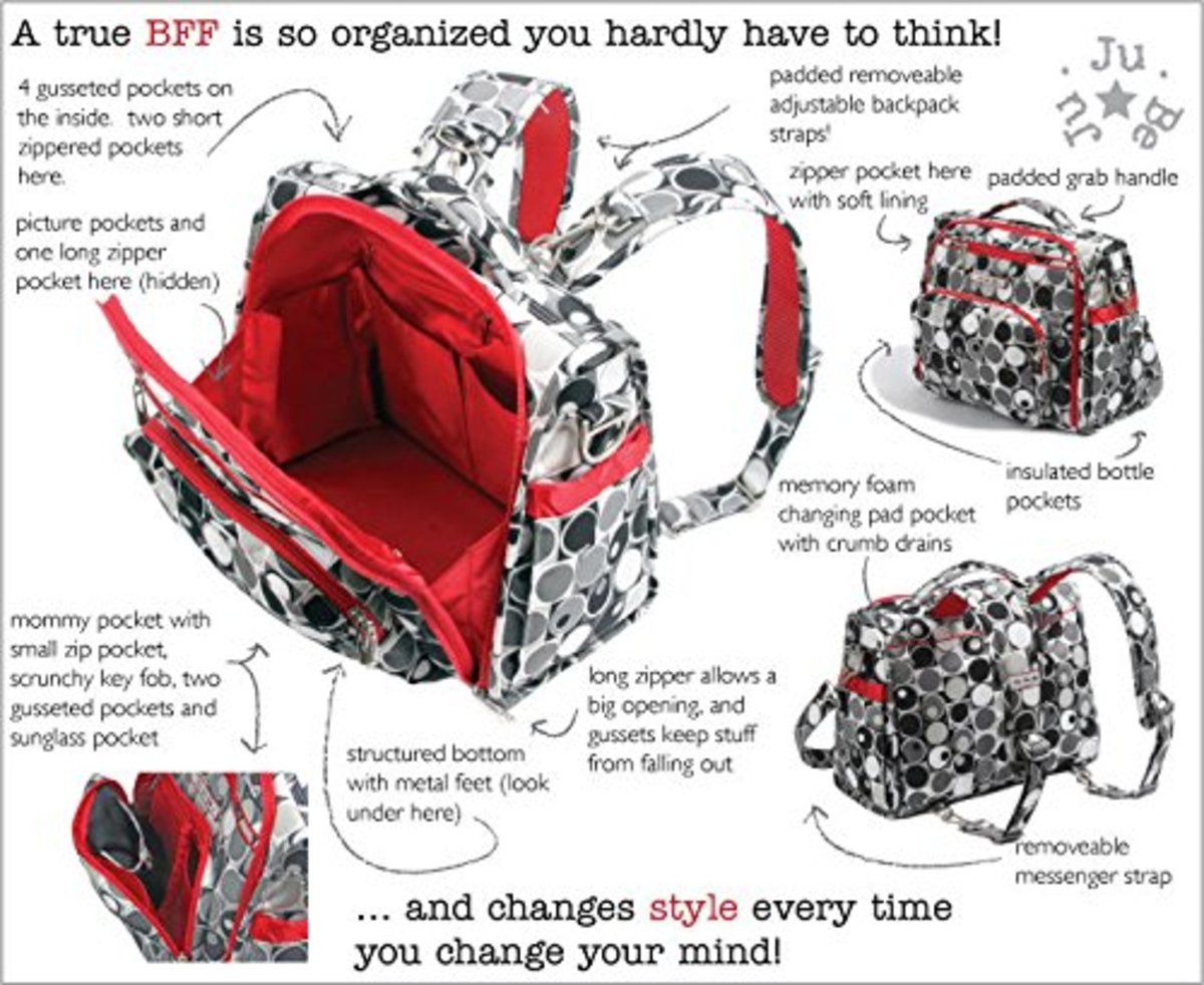 Ju Ju Be BFF diaper Bag.