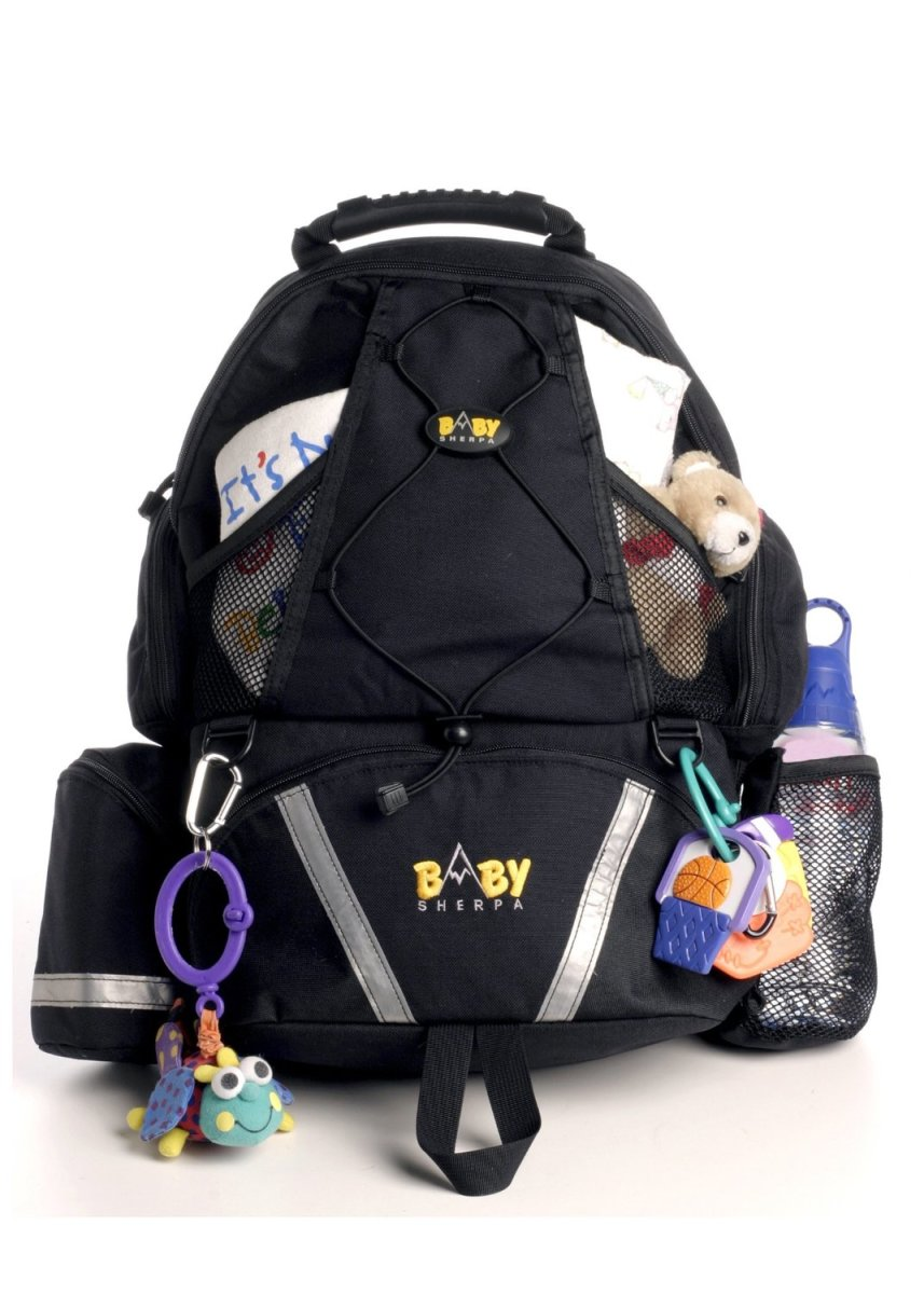 Baby Sherpa diaper backpack.