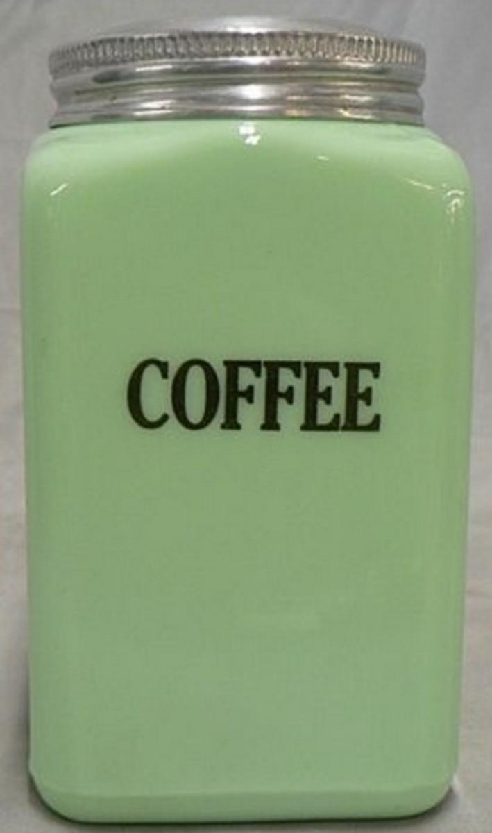 McKee Jadite Coffee Canister