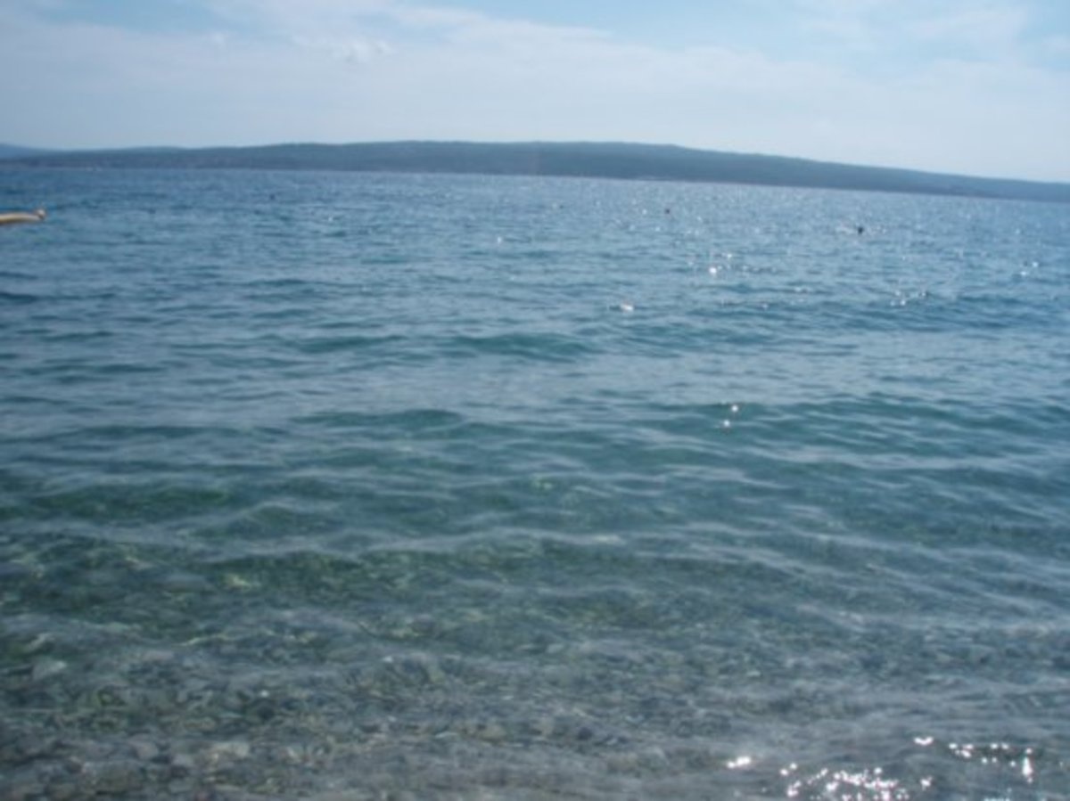 The tranquil Adriatic Sea
