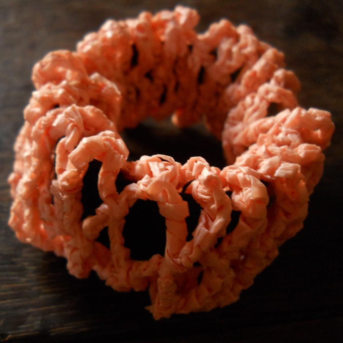 Diamond Mesh Crochet Scrunchies
