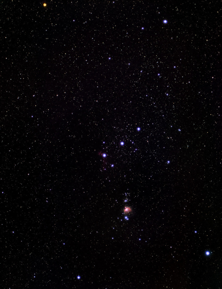 The well-known constellation Orion.