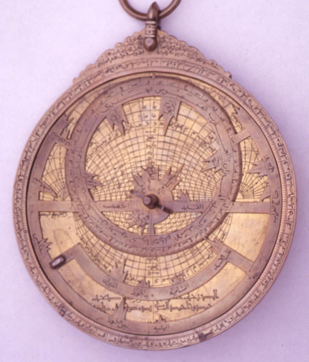 Brass astrolabe of North African origin, dated 1309/10 AD
