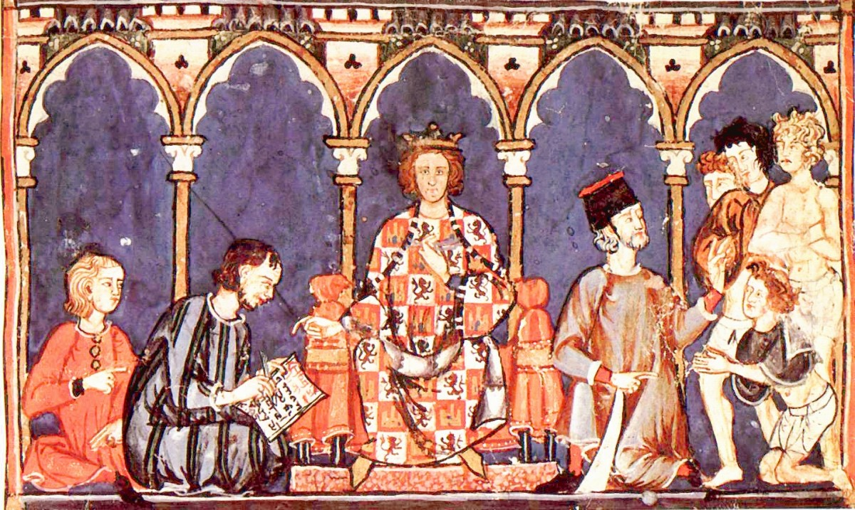 "Alfonso X, ""The Wise"", and his court."