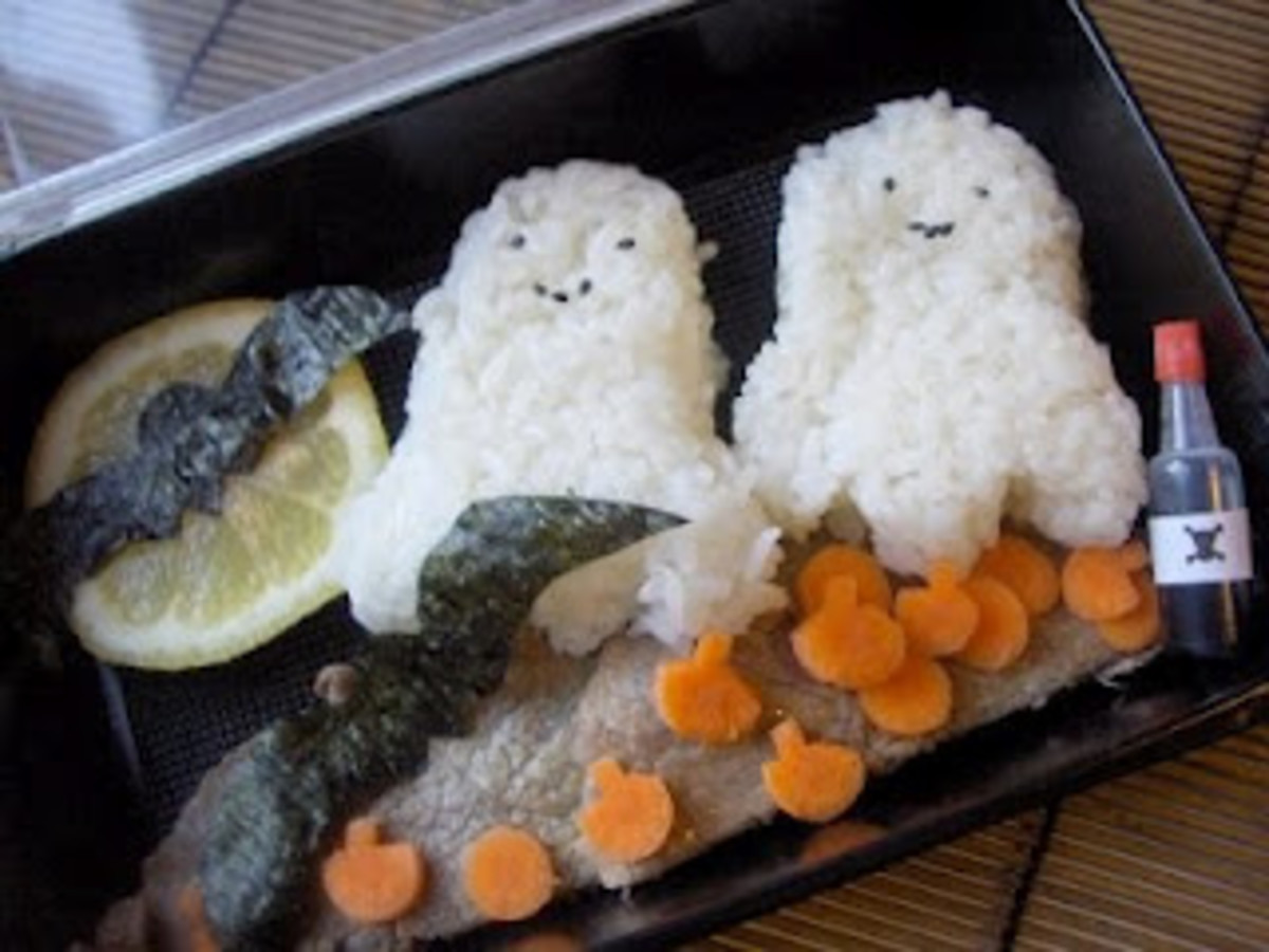 You must visit this website and have a look at the spooky Bento Boxes - I'm a major fan on these!