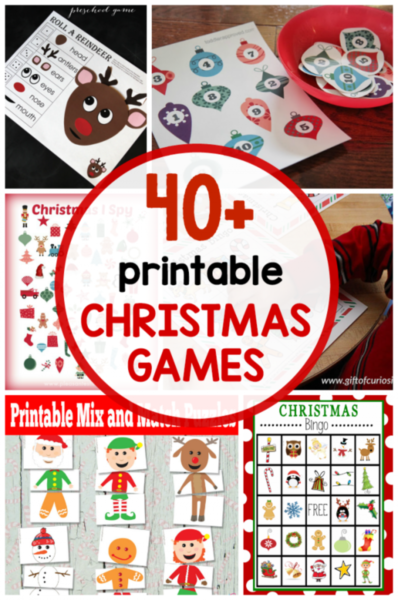 The Measured Mom found 40+ printable Christmas games that are free!  Your kids and holiday guests will love playing these games.