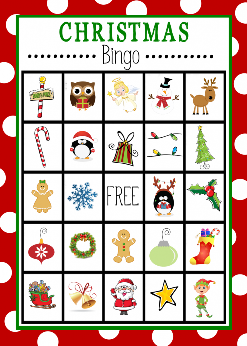 Crazy Little Projects has some printable bingo cards with a Christmas theme.  They are fun, they are free, and kids love to play this game!