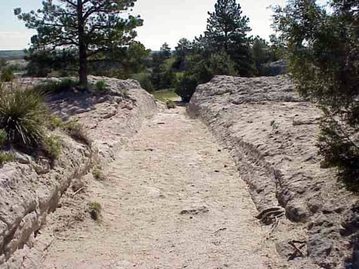 Oregon Trail ruts, Wyoming