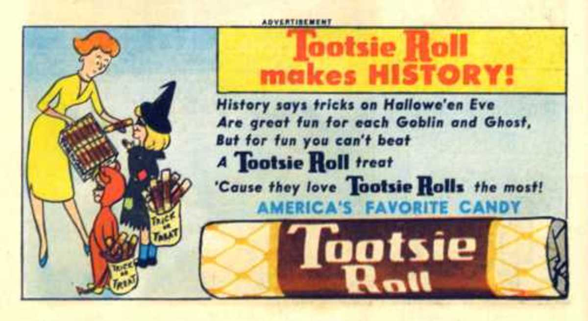 Vintage Tootsie Roll Ad from 1962