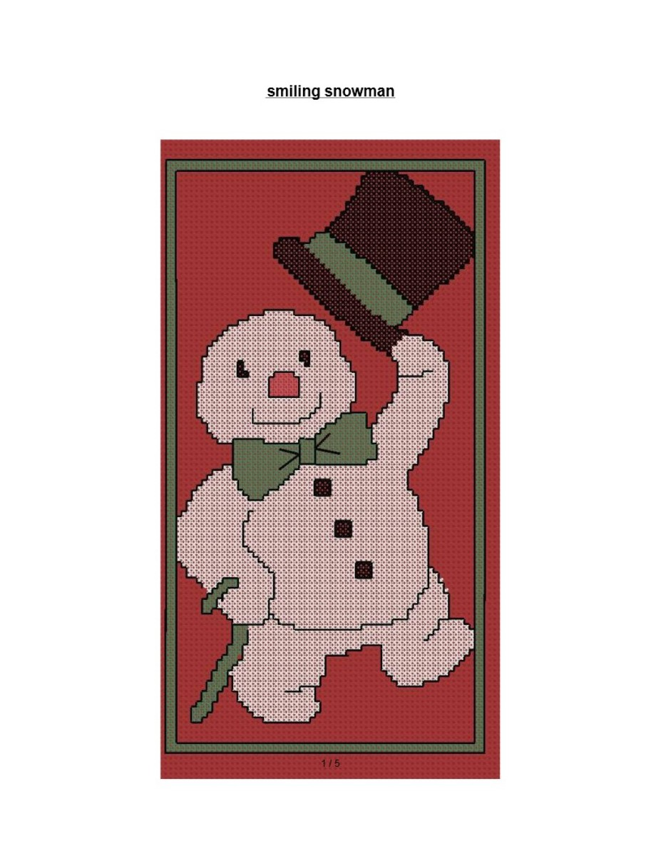 Free Cross Stitch Pattern Dapper Snowman