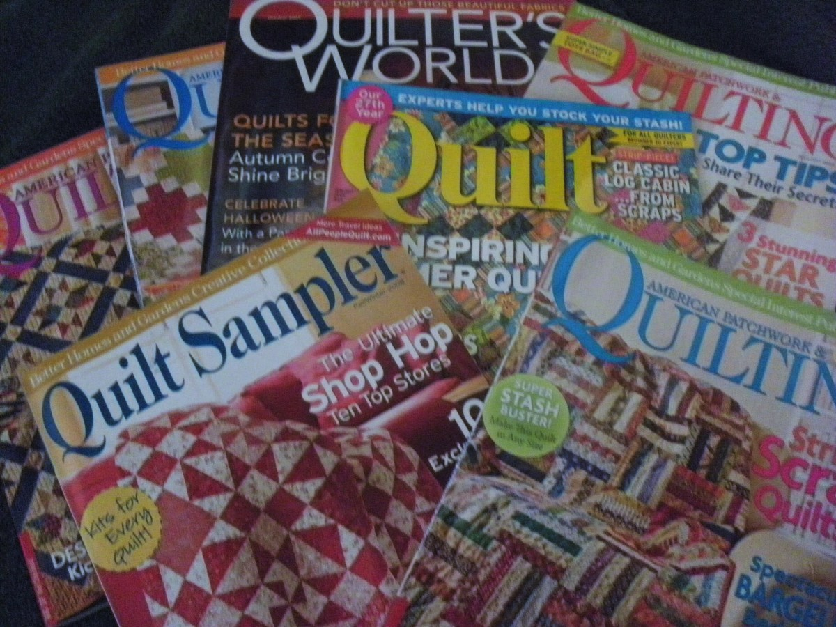 There are many quilting magazines in the market today.