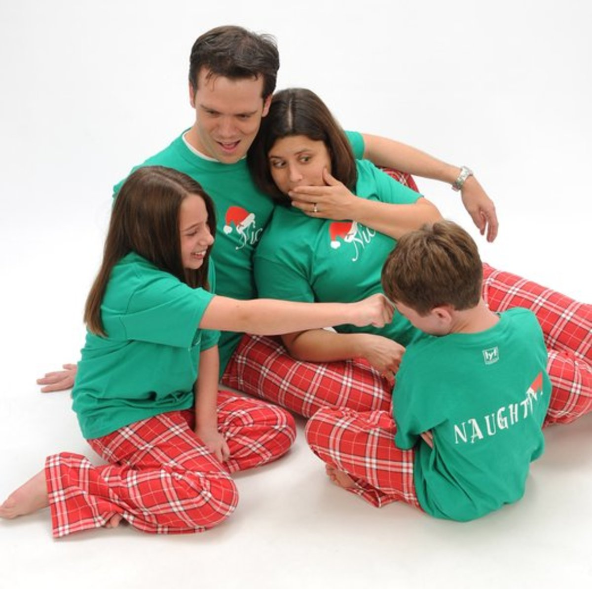 Cute Red and Green Family Christmas Pajamas