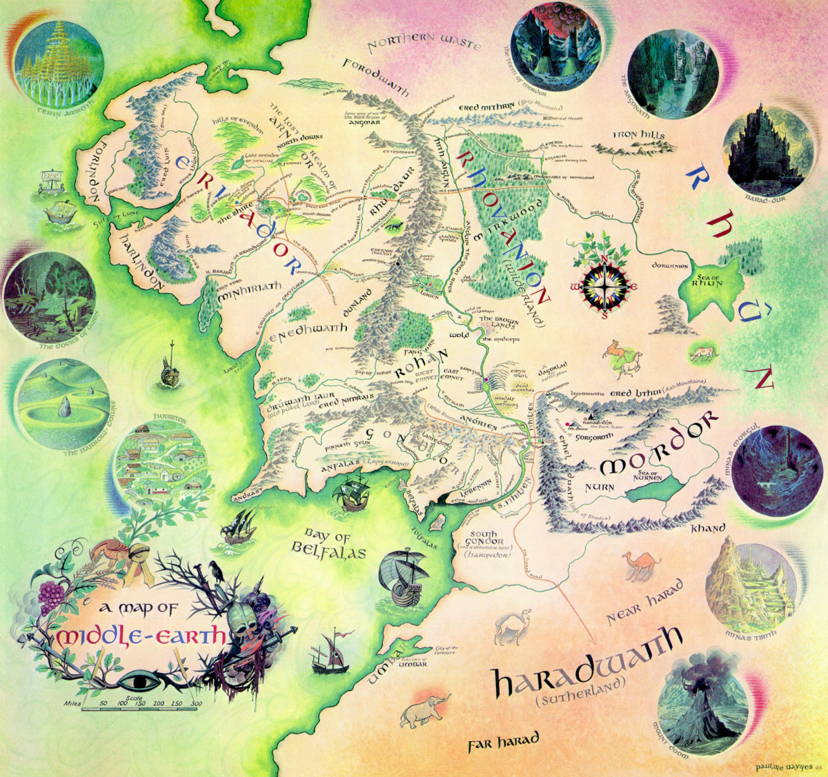 The map of Middle-Earth courtesy of http://bquick.info/wp-content/uploads/2011/05/middle-earth.jpg