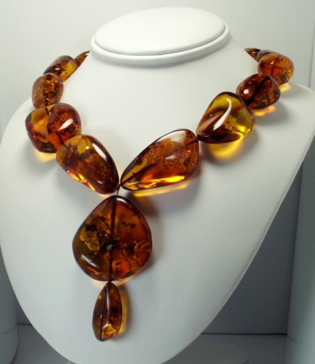 Amber jewellery.