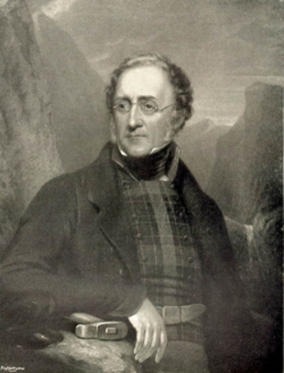 Sir Henry Thomas de la Beche, geologist, 1848 Engraving by William Walker after a painting by HP Bone 1848