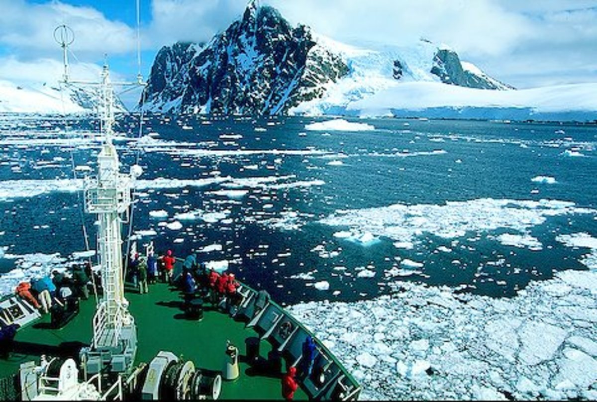 On board of a cruise ship, Antarctica