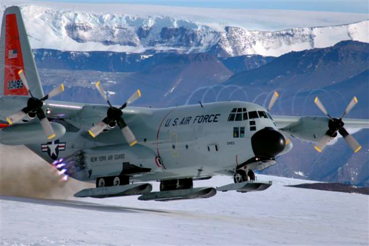 An LC 130 Aricraft suitable for landing on Antarctica